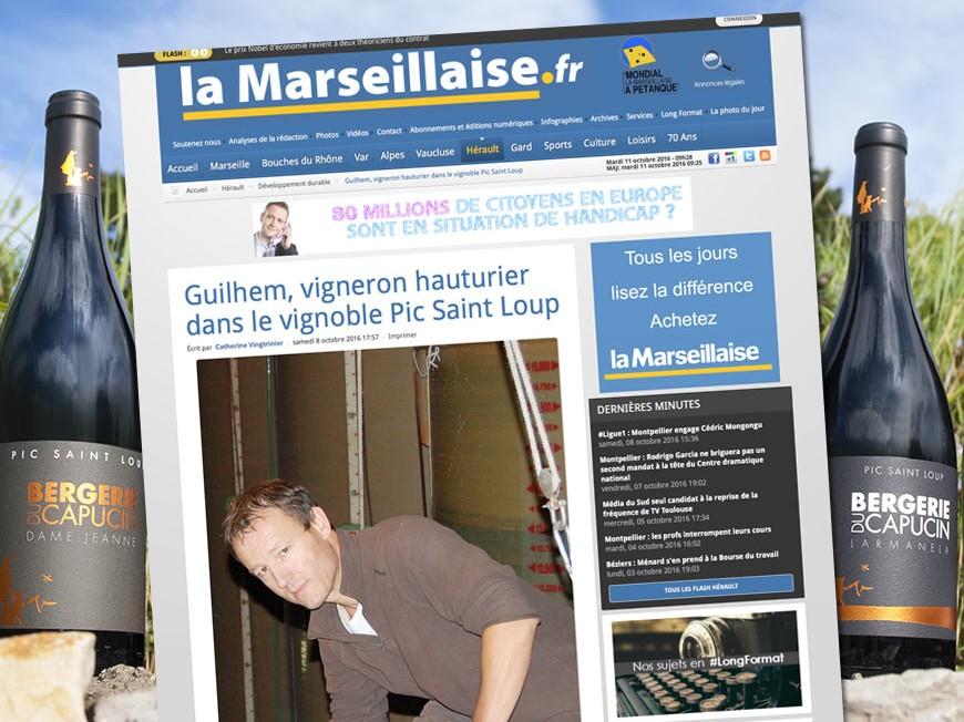 La Bergerie du Capucin dans la Marseillaise du Languedoc