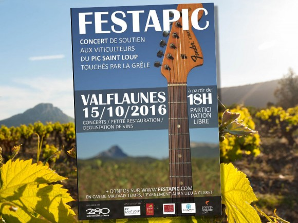 Concert de soutien Festapic aux vignerons du Pic Saint Loup