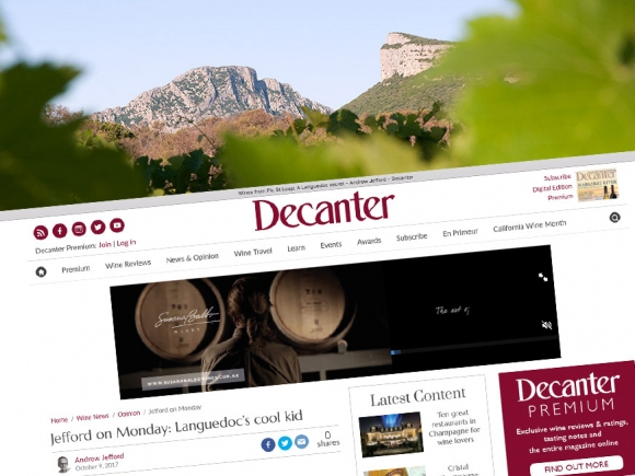 Le journal DECANTER s'invite à la Bergerie